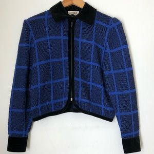 ST JOHN by Marie gray knit sweater jacket size 6